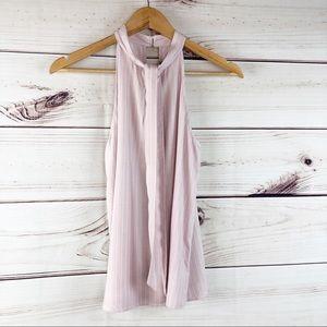 T262 Naked Zebra dusty pink striped  blouse